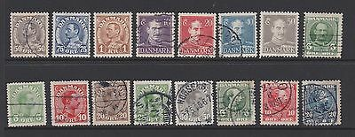 Denmark. Small collection of stamps of kings