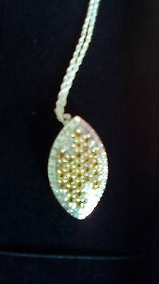 Songea Yellow Sapphire Sterling Silver Pendent