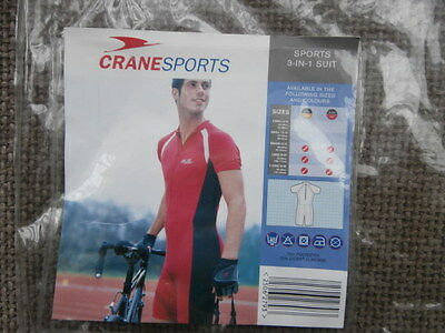 BRAND NEW , Mens  3 IN 1  Crane SPORTS  Cycling  SUIT  SIZE  Large