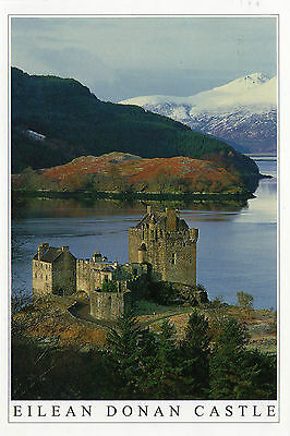 OLD POSTCARD - SCOTLAND -Winter morning - Eilean Donan Castle, Wester Ross