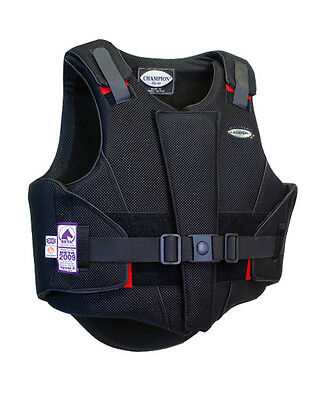 Brand New Champion Black Zip Air Body Protector Size Adults Large