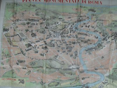 1960's Poster Map - The Monuments of Rome.