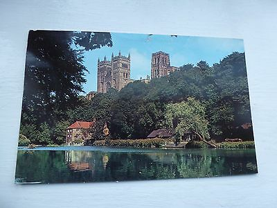 The River WEAR and DURHAM CATHEDRAL  1963? Postcard + 3d Stamp