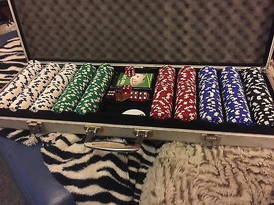 Professional poker set And Metal Carry Case