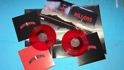 The Killers - Battle Born Doppel LP red Vinyl Fold Out Cover
