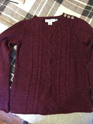 H&M Burgundy Cable Knit Jumper