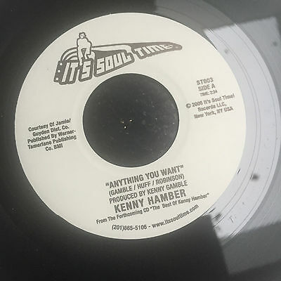 MODERN SWEET Northern Soul - KENNY HAMBER - ANYTHING YOU WANT - SOUL TIME 45RPM