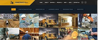 Custom Construction  Website Web Design Services (10 Pages Max)