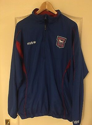 Vintage Mitre Ipswich Town Tracksuit Top Jacket Football Shirt XL