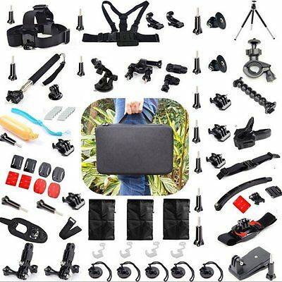 56 All in one Professional Kit Accessories Bundle for Gopro HD Hero 4 3+ 2 1