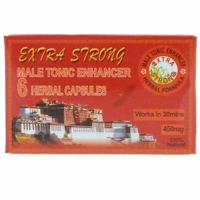 Extra Strong Male Tonic Aid Performance Pills 6 Herbal Capsules Boxed