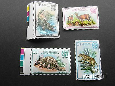 SWAZILAND STAMPS - ANIMALS WILDLIFE CONSERVATION - 1969  - MNH - 99p START.