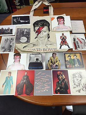 Collectable David Bowie V & A 16 Postcard Set & Aladdin Sane  Bag Not Included