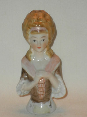 Pin Head Brush Doll China Vintage  Porcelain Lady Head & Upper Body