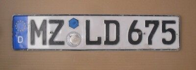 Germany License Plate Only For Collectors  Quality As The Picture