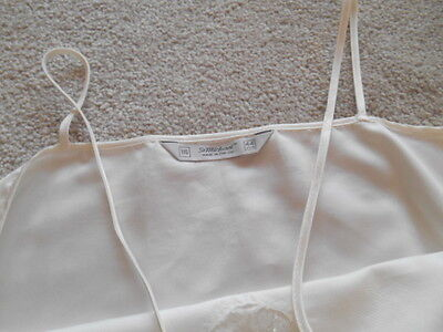 One cream strappy nightdress size 16 M and S