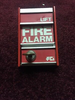 Fci fire alarm pull station ms-2 With Key.
