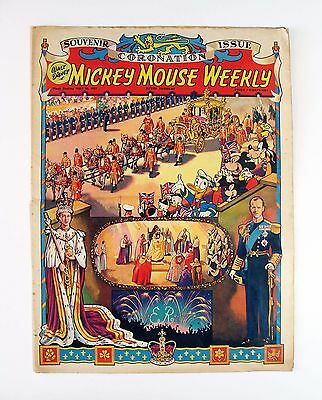 Vintage Mickey Mouse Weekly Comic - Queens Coronation Souvenir Issue May 1953
