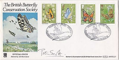 Butterflies Fdc With Shs And Sir Peter Scott Signature