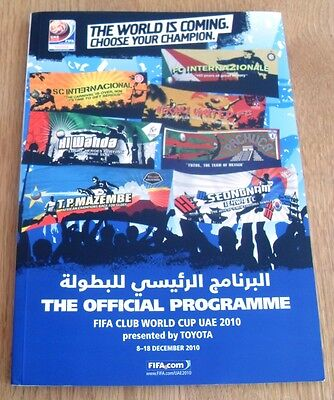 2010 Fifa Club World Cup Official Tournament Programme Japan Inter Milan Mazembe