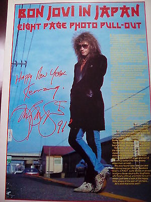 Bon Jovi Kerrang Live New Year 1991 Japan Tour Pull Out 8 Pages from Kerrang