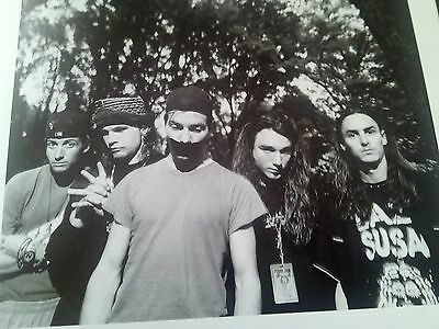 Pearl Jam 1992 Soundgarden 1989 18x 18cm Photo's Page from Book to Frame ?