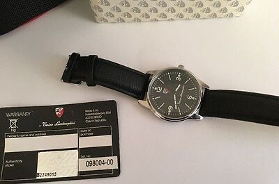 Tonino Lamborghini gents watch on black leather strap