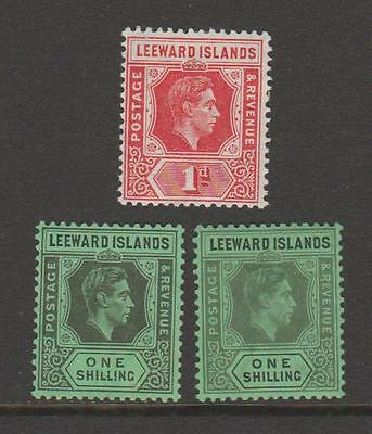 LEEWARD ISLANDS KGVI 1d to £1 UNMOUNTED OR MOUNTED MINT