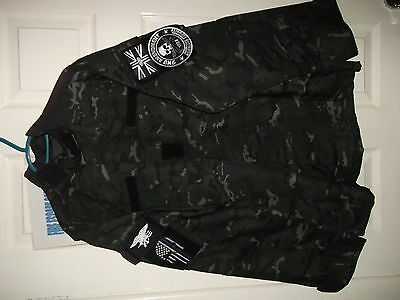 Brand new British issued MTP BLACK Shirt and Trousers, never worn! (CTSFO.)