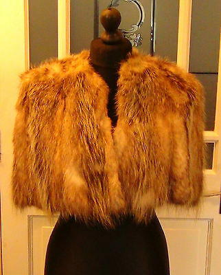 Women's Vintage Real Fur Cape