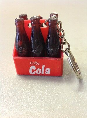 Free Shipping!! Vintage Antique Coca Cola 6 Pack Keychain