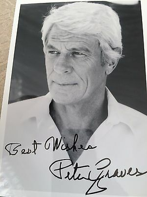 7x5 Signed Photo of Actor Peter Graves