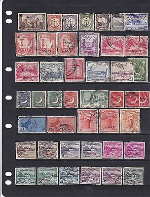 Collection of Pakistan stamps - 3 pages