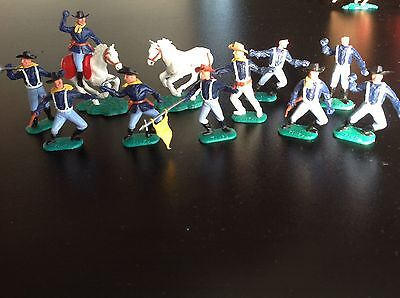 Vintage Timpo Cavalry Toy Soldiers Cowboys Plastic Indian Horses Spare Spares