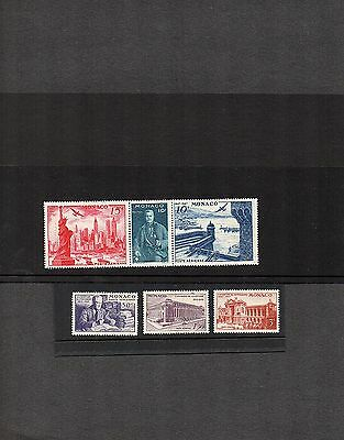 Monaco;1947 New York Exhibition; set of 6; Triplet and 3; mint; cat £28+