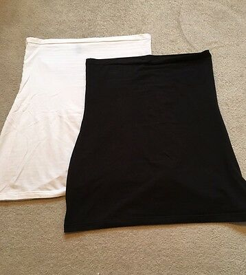 Two Longer Length Belly Bands SIZE 16 - Black & White By Harry Duley