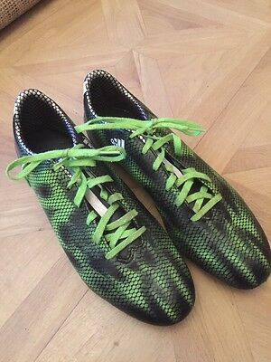 Adidas Green Black Football Boots Good  Condition Size 10