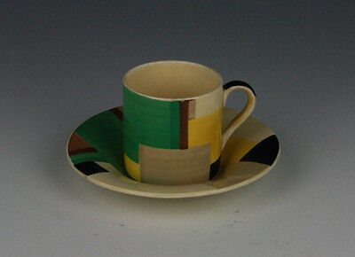 Susie Cooper Geometric Coffee Can and saucer.