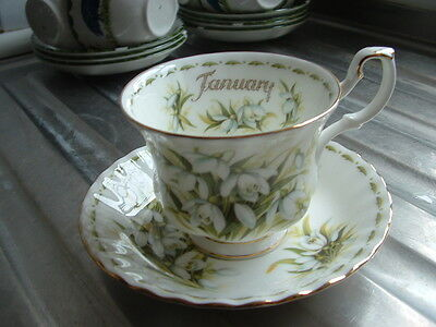 Royal Albert Flower Of The Month Cup And Saucer January