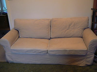 ikea ektorp three seater sofa bed