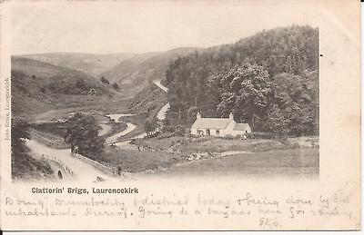 Old Undivided Back Postcard Clatterin' Brigs Laurencekirk 1902