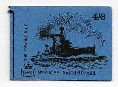 Gb  Stamp Booklet ~ The Dreadnought Complete With Stamps Mnh ~ September 1969