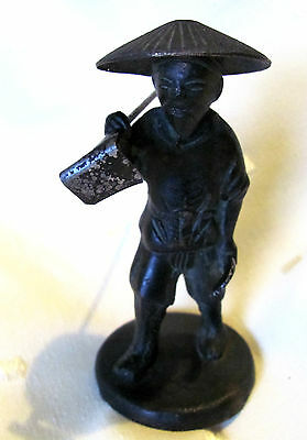 Antique/Vintage Chinese Metal Male Figure Signed