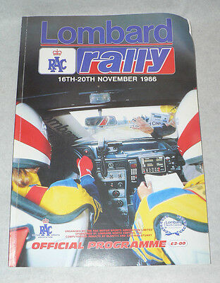 Official Programme Lombard RAC Rally 1986