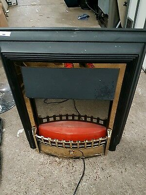 Dimplex Cheriton CHT20 Electric Flame Effect Fire in Black With Brass Effect