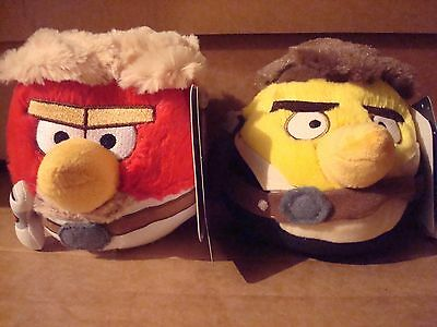Star Wars Angry Birds Luke Skywalker And Han Solo Plush Soft Toys