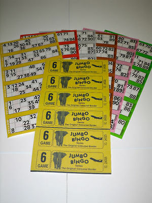 450 6 Page (Games) Books - Jumbo Bingo Tickets Booklets
