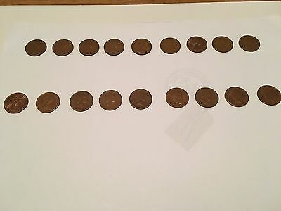 One New Pence - coins collection 1971, 73-81, 84-91