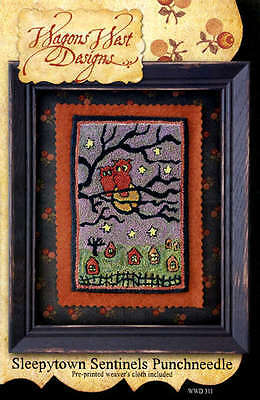 SLEEPYTOWN SENTINELS PUNCHNEEDLE PATTERN, From Wagons West Designs NEW