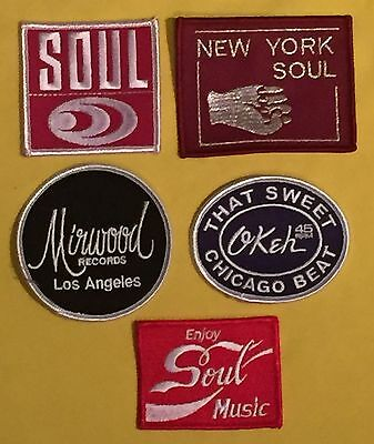 5 New Sew On Soul Embroidered Patches